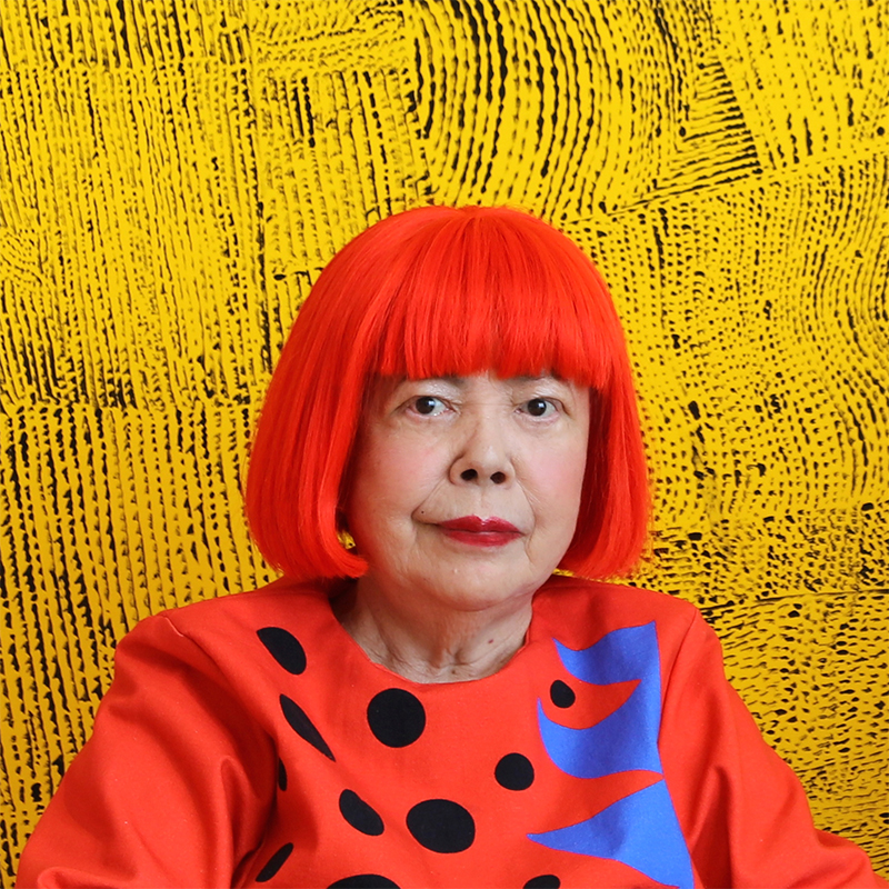 yayoi kusama Yayoi kusama is 82 years old but when she is wheeled in, on her blue polka- dotted wheelchair, she looks more like a baby, the sort you might.